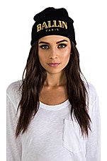 Ballin Beanie in Black & Gold