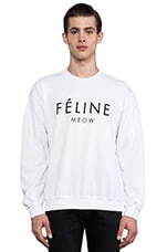 Feline Sweatshirt in White/Black