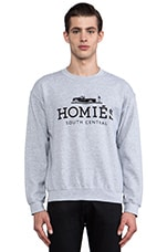 Homies Sweatshirt in Heather Grey/Black