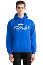 Homies Pullover Hoodie in Royal Blue/White