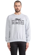 Rollin' with the Homies Sweatshirt in Heather Grey/Black
