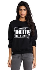 Homies Advisory Sweatshirt in Black & White