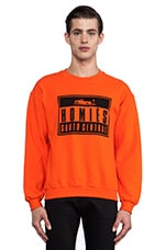 Homies Advisory Sweatshirt en Orange & Noir