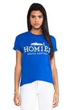 Homies Tee in Royal Blue & White