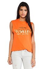 Homies Muscle Tee in Orange & Gold Foil
