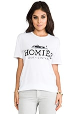 Homies Tee in White/Black