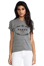 Party Animal Tee in Heather Grey & Black