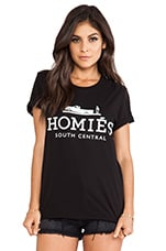 Homies Tee in Black & White