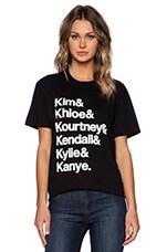 Kardashians Tee in Black & White