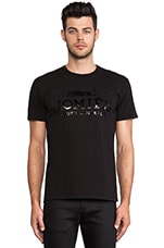 Homies Unisex Short Sleeve Tee in Black/ Black Foil