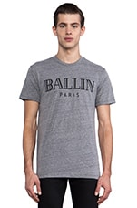 Ballin Tee in Heather Grey/Black