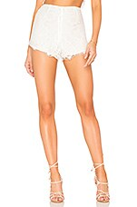 BEACH RIOT Dahlia Shorts in White Lace