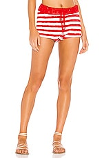 BEACH RIOT Sandy Short in Red & White Stripe