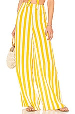 BEACH RIOT x REVOLVE Celeste Pant in Yellow Stripe