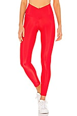 BEACH RIOT Cara Rib Legging in Red