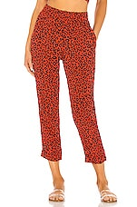 BEACH RIOT X REVOLVE Avery Pant in Red Leopard