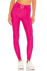 BEACH RIOT Heart Knot Legging in Fuchsia Rose