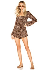 BEACH RIOT x REVOLVE Rachel Romper in Leopard