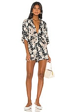 BEACH RIOT Morgan Romper in Brown