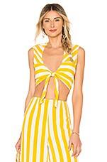 BEACH RIOT x REVOLVE Gia Top in Yellow Stripe
