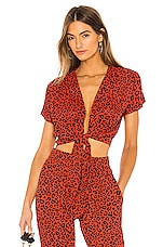 BEACH RIOT X REVOLVE Piper Top in Red Leopard