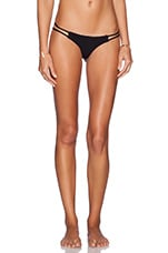 x STONE COLD FOX Hydrangea Bikini Bottom in Black Texture