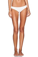 x STONE COLD FOX Gardenia Bikini Bottom in White Texture