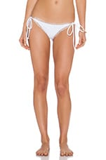 Croatia Bikini Bottom in Mykonos White