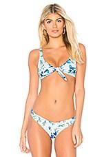 BEACH RIOT Grace Bikini Top in Blue