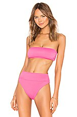 BEACH RIOT x REVOLVE Kelsey Bikini Top in Neon Pink Rib