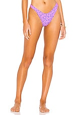 BEACH RIOT Island Bikini Bottom in Purple Leopard