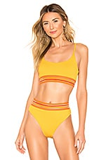 BEACH RIOT Anna Bikini Top in Yellow