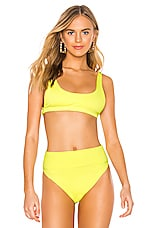 BEACH RIOT Peyton Bikini Top in Neon Yellow
