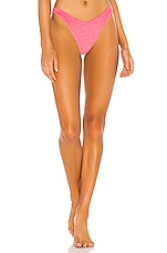 BEACH RIOT Island Terry Bikini Bottom in Pink