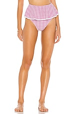 BEACH RIOT x V. Chapman Daisy Bikini Bottom in Lurex Gingham