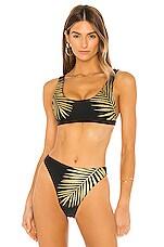 BEACH RIOT Peyton Bikini Top in Black