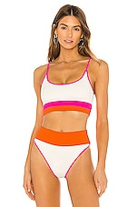 BEACH RIOT X REVOLVE Eva Bikini Top in Orange, Pink & White