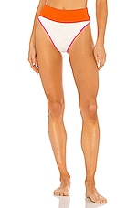 BEACH RIOT X REVOLVE Emmy Bikini Bottom in Orange, Pink & White