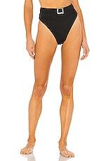 BEACH RIOT Highway Bikini Bottom in Black