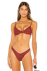 BEACH RIOT X REVOLVE Camilla Bikini Top in Red Leopard