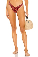 BEACH RIOT X REVOLVE Island Bikini Bottom in Red Leopard
