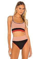 BEACH RIOT Eva Bikini Top in Baby Pink & Love Red