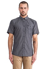 Central Button Down in Black