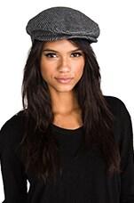 Brixton Barrel Snap Cap in Tan/Black