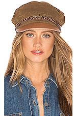 Brixton Kayla Cap in Brown & Brown
