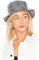 Brixton Hardy Bucket Hat in Grey Plaid
