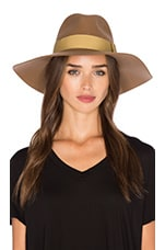 Piper Hat in Tan & Bronze
