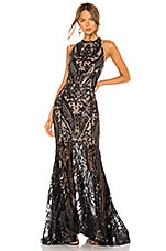 Bronx and Banco Ester Noir Gown in Black