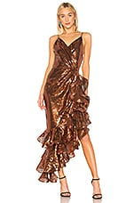 Bronx and Banco High Slit Gown in Cooper