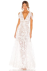 Bronx and Banco Tunisia Bridal Gown in White